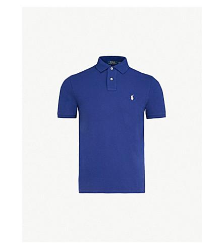 POLO RALPH LAUREN Slim-fit cotton-piqué polo shirt (Fall+royal/sp18
