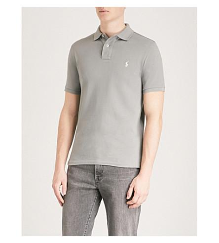 cotton polo Perfect RALPH piqu fit POLO LAUREN sp18 shirt Slim grey xqpwdwIY