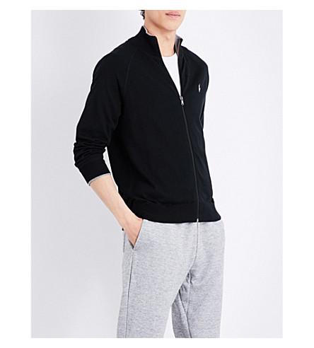 POLO RALPH LAUREN Zip-up cotton-jersey sweatshirt (Polo+black