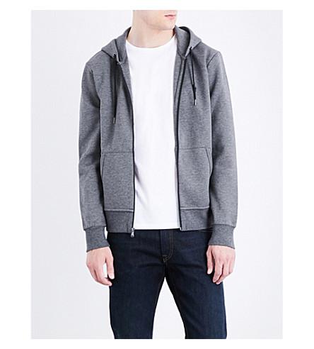POLO RALPH LAUREN Pony-motif jersey hoody (Stadium+grey+he