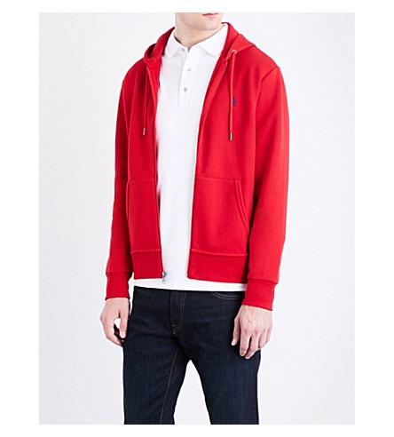 POLO RALPH LAUREN Pony-motif jersey hoody (Martin+red