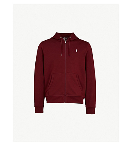 POLO RALPH LAUREN Logo-embroidered tech-jersey hoody (Classic+wine
