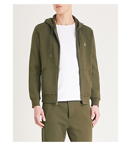 POLO RALPH LAUREN Branded tech-jersey hoody (Company+olive