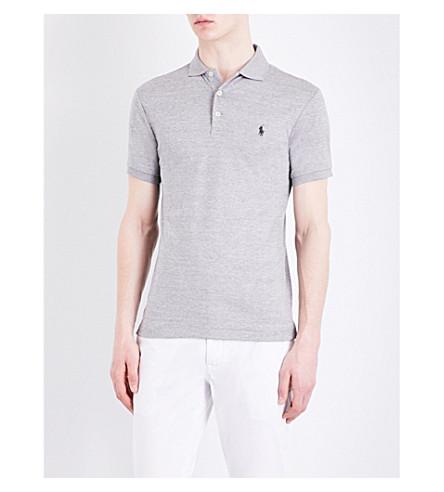 POLO RALPH LAUREN Slim-fit cotton polo shirt (Homestead+heath