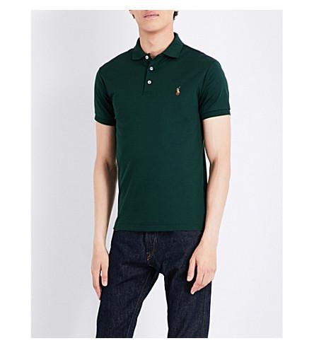 POLO RALPH LAUREN Pony-motif cotton polo shirt (Deep+pine