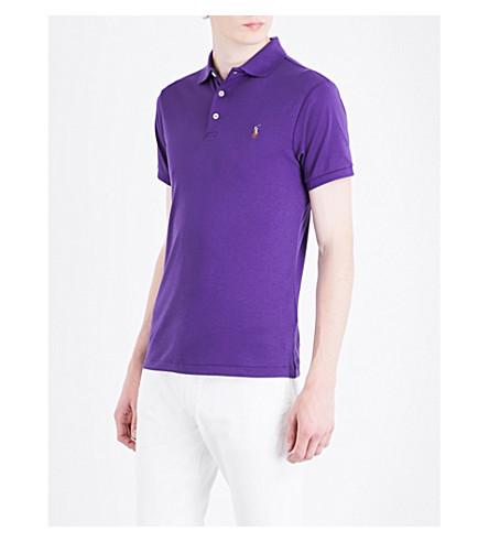 POLO RALPH LAUREN Pony-motif cotton polo shirt (Regal+purple