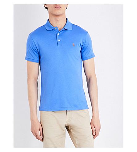 POLO RALPH LAUREN Pony-motif cotton polo shirt (Scottsdale+blue