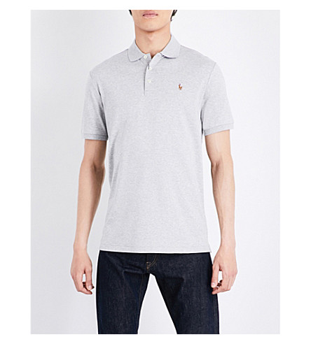 POLO RALPH LAUREN Pony-motif cotton polo shirt (Spring+heather
