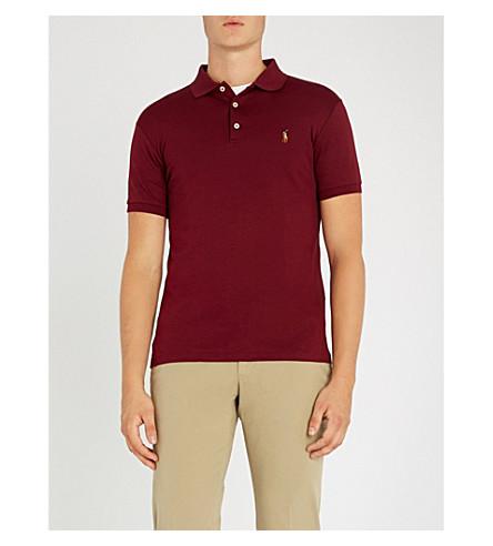 POLO RALPH LAUREN Slim-fit cotton-jersey polo shirt (Classic+wine