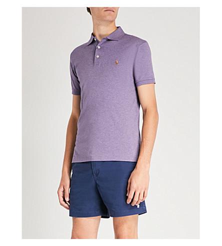 Polo de POLO de fit LAUREN slim algodón púrpura Heather jersey RALPH n7nRqExBXf