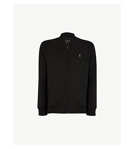 POLO RALPH LAUREN Logo jersey bomber jacket (Polo+black