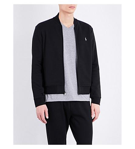 POLO RALPH LAUREN Logo jersey bomber jacket (Polo+black