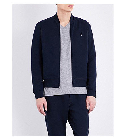 ... POLO RALPH LAUREN Logo jersey bomber jacket (Aviator+navy. PreviousNext