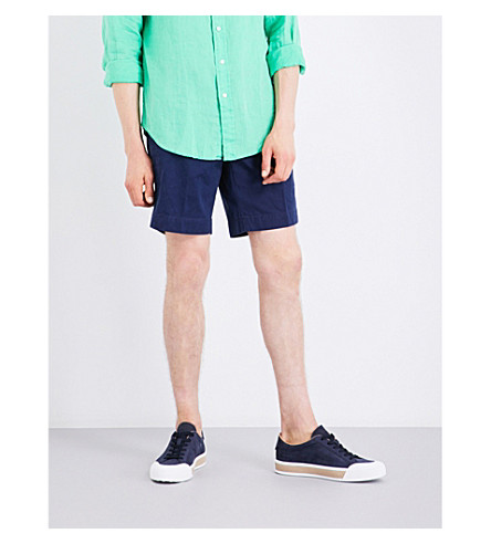 POLO RALPH LAUREN Straight-fit cotton shorts (Newport+navy