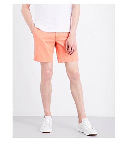 POLO RALPH LAUREN Straight-fit cotton shorts (Capri+orange