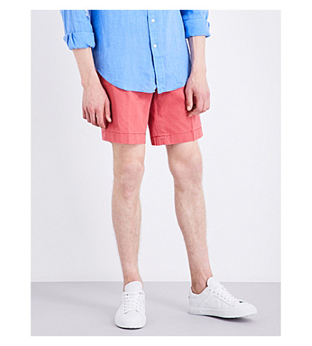 POLO RALPH LAUREN Straight-fit cotton shorts (Desert+red