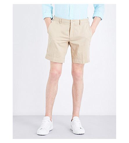 POLO RALPH LAUREN Straight-fit cotton shorts (Coastal+beige