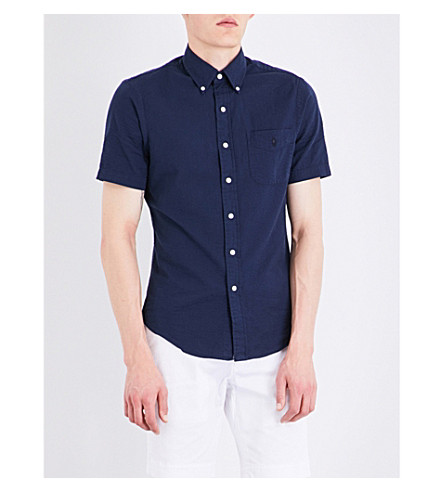 POLO RALPH LAUREN Slim-fit cotton shirt (Navy