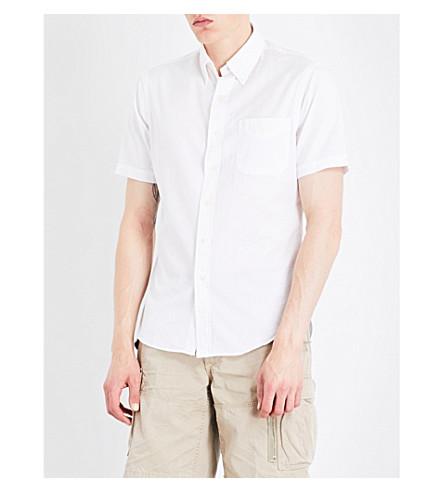 POLO RALPH LAUREN Pinstriped-textured slim-fit cotton shirt (White
