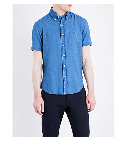 POLO RALPH LAUREN Slim-fit cotton shirt (1610b+light+nav
