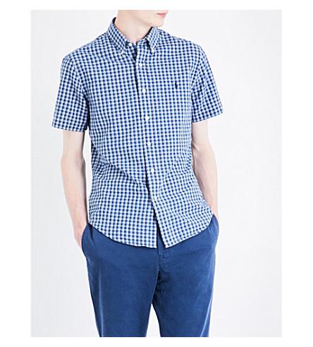 POLO RALPH LAUREN Slim-fit checked cotton shirt (1614+indigo/whi