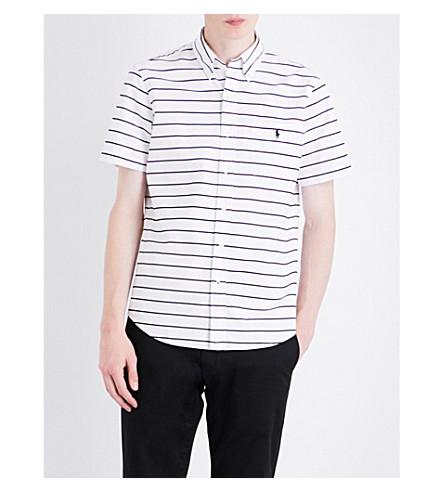 POLO RALPH LAUREN Stripe-print cotton shirt (1759+white/blac