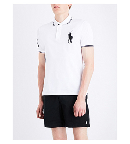 POLO RALPH LAUREN Logo cotton-piqué polo shirt (White