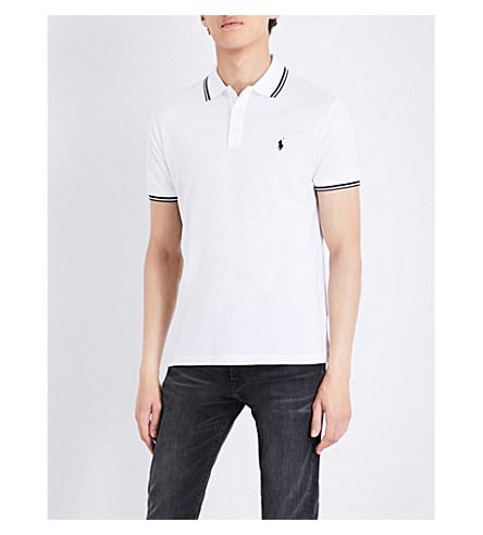 POLO RALPH LAUREN Custom slim-fit cotton polo shirt (White