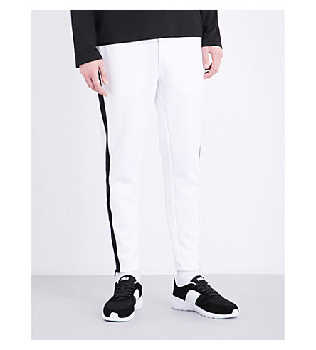 POLO RALPH LAUREN Contrast-panel cotton-blend track pants (White/polo+blac
