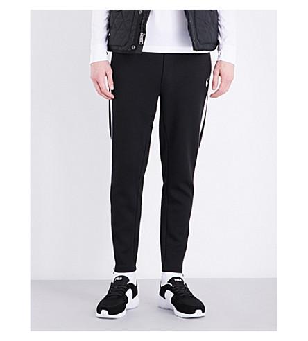 POLO RALPH LAUREN Stripe-detail cotton-blend jogging bottoms (Polo+black/whit