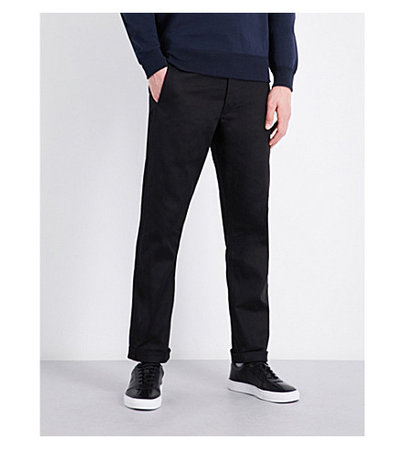 POLO RALPH LAUREN Slim-fit straight cotton-twill trousers (Polo+black
