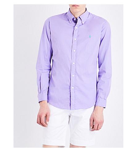 POLO RALPH LAUREN Slim-fit cotton shirt (Bali+purple