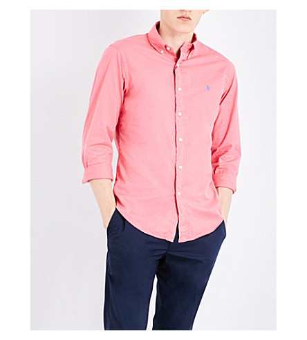 POLO RALPH LAUREN Slim-fit cotton-twill shirt (Cruise+pink