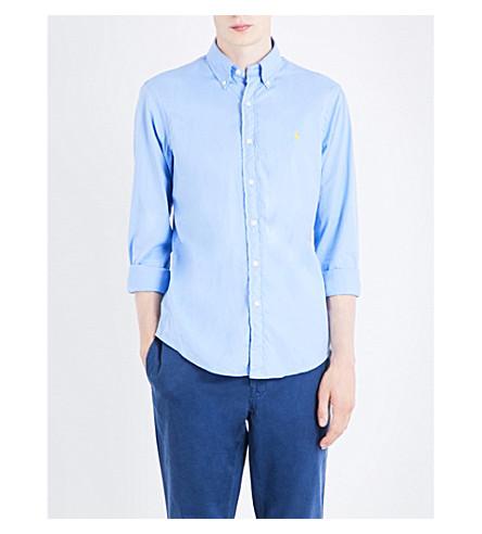POLO RALPH LAUREN Slim-fit cotton shirt (Spinnaker+blue