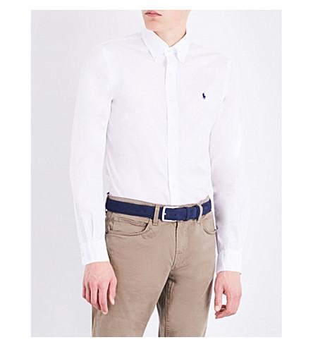 POLO RALPH LAUREN Slim-fit cotton shirt (White