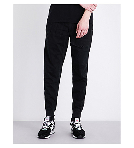 POLO RALPH LAUREN Slim-fit straight stretch-cotton trousers (Polo+black