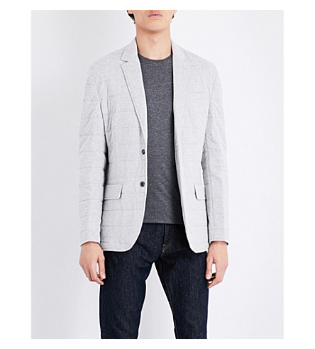 POLO RALPH LAUREN Quilted cotton blazer (Spring+heather