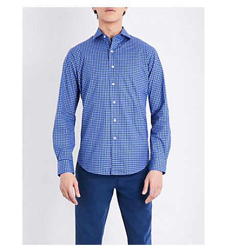 POLO RALPH LAUREN Gingham regular-fit cotton shirt (1853+resort+blu