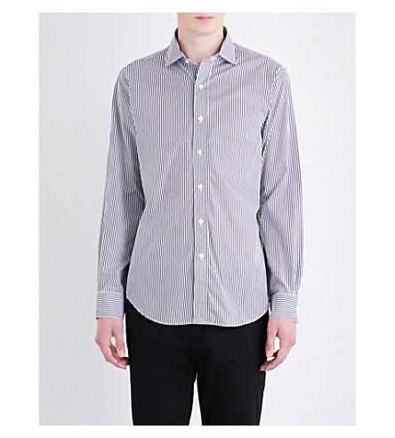 POLO RALPH LAUREN Striped regular-fit cotton shirt (1855+classic+bl