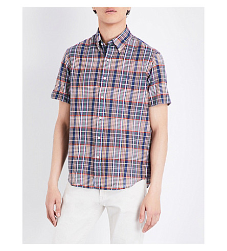 POLO RALPH LAUREN Regular-fit checked cotton shirt (1806+green/red