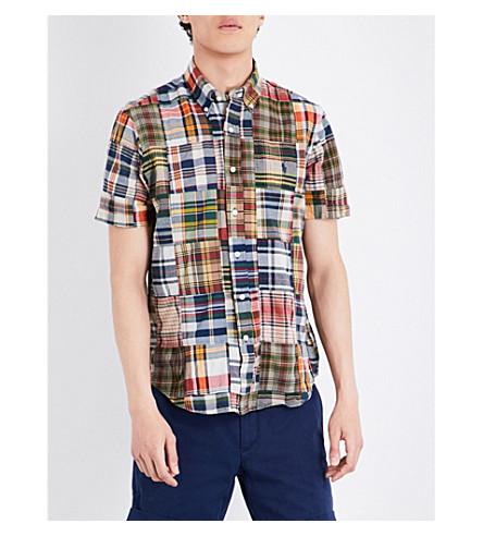 POLO RALPH LAUREN Regular-fit patchwork cotton shirt (1807+patchwork