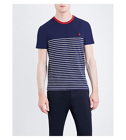POLO RALPH LAUREN Striped cotton-jersey T-shirt (Newport+navy/ne