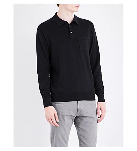 POLO RALPH LAUREN Knitted cotton polo shirt (Polo+black