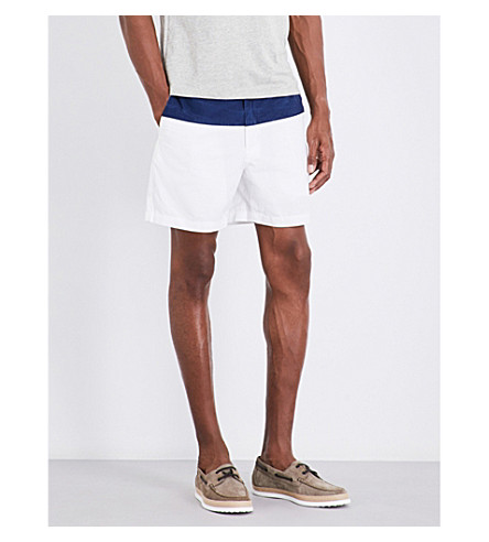POLO RALPH LAUREN Prepster classic-fit cotton shorts (Nwprt+navy/whit