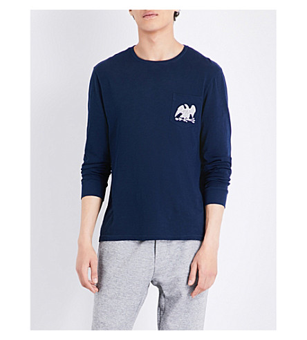 POLO RALPH LAUREN Logo-print cotton-jersey T-shirt (Cruise+navy