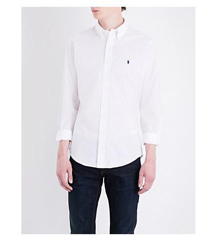 POLO RALPH LAUREN Pony-motif slim-fit cotton shirt (White