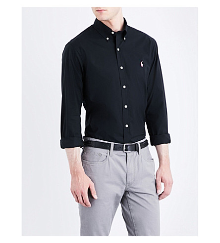 POLO RALPH LAUREN Slim-fit single-cuff cotton shirt (Polo+black