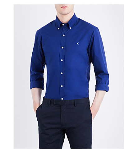 POLO RALPH LAUREN Slim-fit stretch-cotton sports shirt (Fall+royal