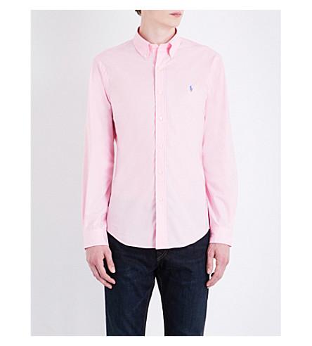 POLO RALPH LAUREN Pony-motif slim-fit cotton shirt (Carmel+pink