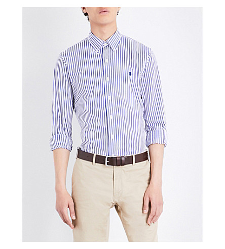 POLO RALPH LAUREN Striped cotton shirt (1796+white/blue